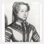Belleza Cordiere, 1555 del La de Louise Labe Calcomanía Cuadradas Personalizadas