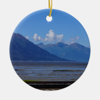 Belleza de Alaska Adorno Navideño Redondo De Cerámica