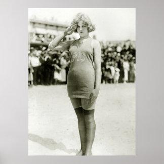 Belleza de Atlantic City, 1900s tempranos Poster