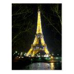 Belleza de Eiffel Postal