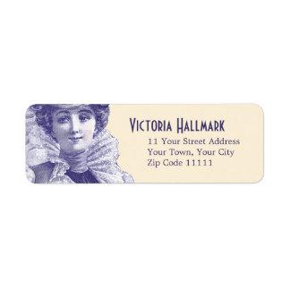 Belleza de fascinación del Victorian - diva de la  Etiqueta De Remite