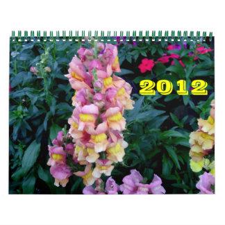Belleza de flores calendario de pared