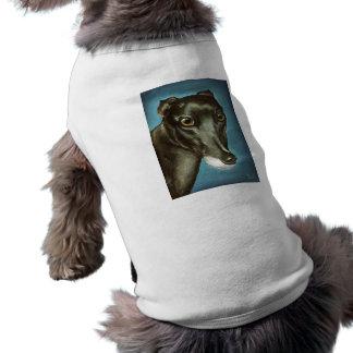 Belleza de Garfiney - retrato del galgo Camiseta De Mascota