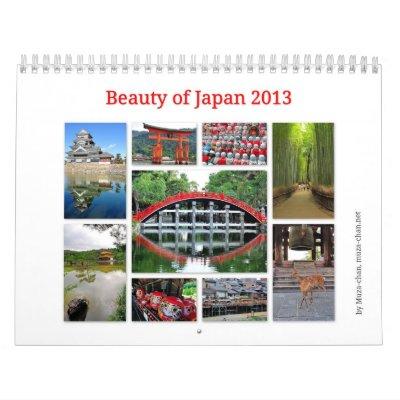 Belleza de Japón 2013 Calendario De Pared
