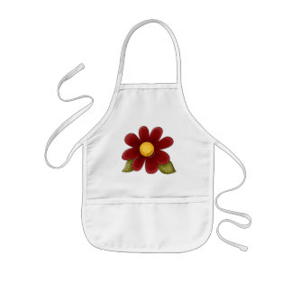 Belleza de la flor del país delantal infantil