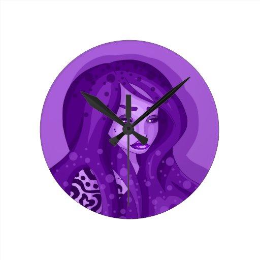 Belleza de la grosella negra reloj de pared