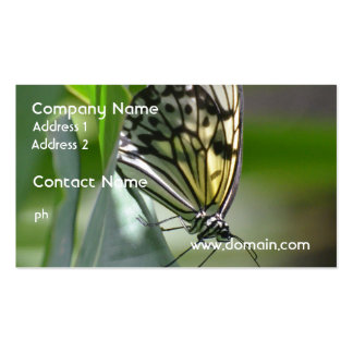 Belleza de la mariposa tarjetas de visita