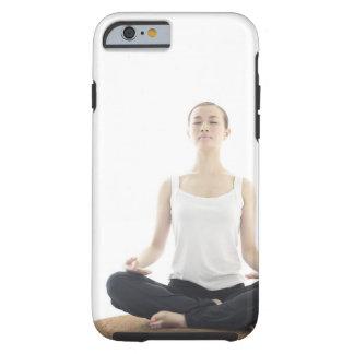 belleza de la mujer joven, yoga funda para iPhone 6 tough