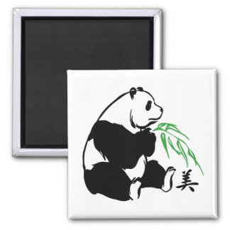 Belleza de la panda imanes de nevera