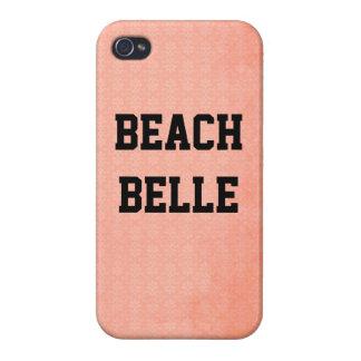 Belleza de la playa: Caso rosado coralino del iPhone 4 Funda