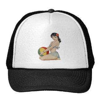 Belleza de la playa - chica del Pin-Para arriba de Gorra