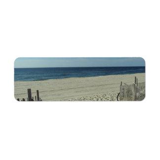 Belleza de la playa etiquetas de remite