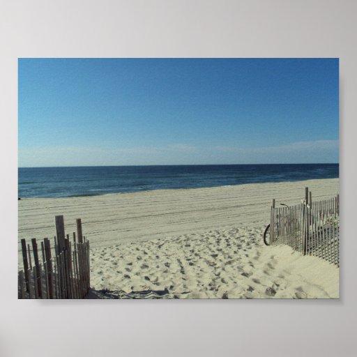 Belleza de la playa póster