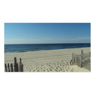 Belleza de la playa tarjeta de visita
