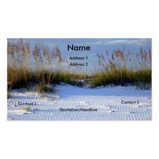 Belleza de la playa tarjetas de visita