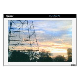Belleza de la puesta del sol calcomanía para 43,2cm portátil