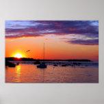 Belleza de la puesta del sol poster