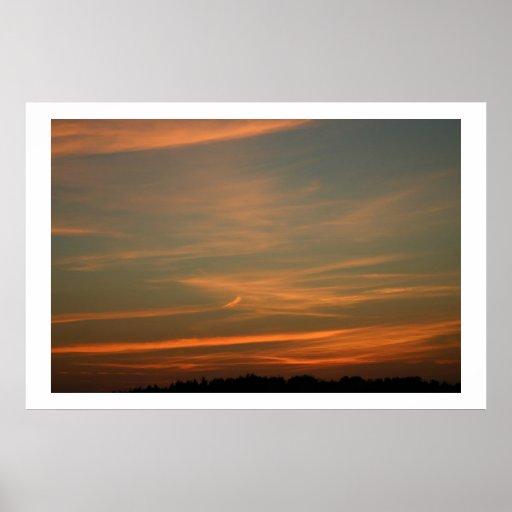 Belleza de la puesta del sol posters