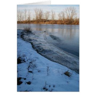 Belleza de la tarjeta del invierno