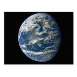 Belleza de la tierra del espacio tarjetas postales