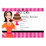 Belleza de la torta tarjetas de negocios