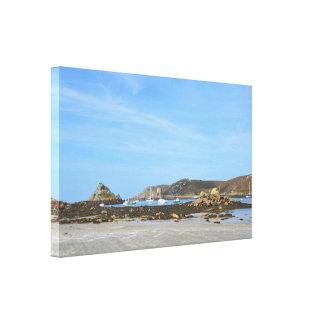 Belleza de las islas de Scilly Impresión En Lienzo