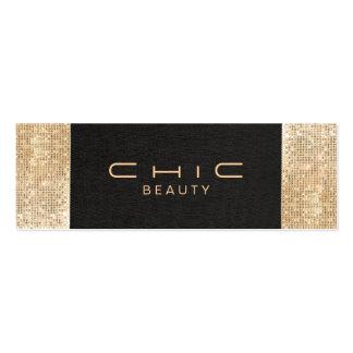 Belleza de lino negra elegante elegante de la lent plantilla de tarjeta de negocio