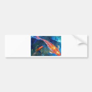Belleza de los pescados de Koi Etiqueta De Parachoque