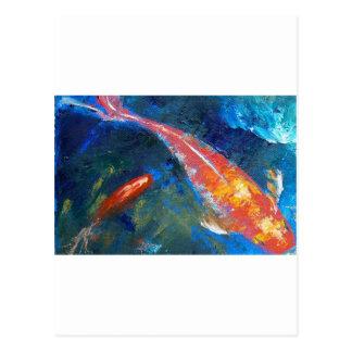 Belleza de los pescados de Koi Tarjetas Postales