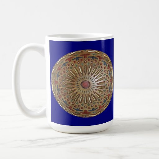 Belleza de Morrocon de la taza en azul
