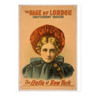 """Belleza de Nueva York, """"la rabia Th del vintage de Tarjeta Postal"""