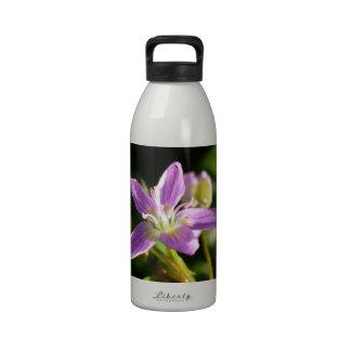 Belleza de primavera siberiana rosada botellas de agua reutilizables