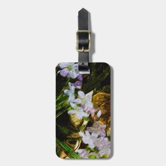 Belleza de primavera un extracto púrpura del Wildf Etiquetas Bolsa