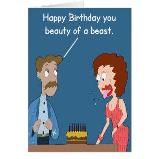 Belleza de una tarjeta de cumpleaños de la bestia