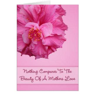 Belleza de una tarjeta del amor de madres