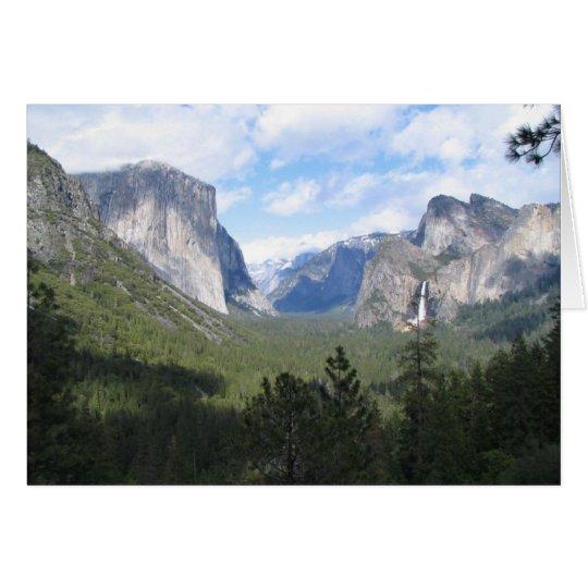 Belleza de Yosemite Tarjeta De Felicitación