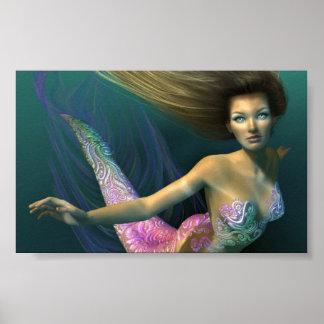 Belleza del agua póster