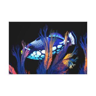 Belleza del arrecife de coral impresión en lona estirada