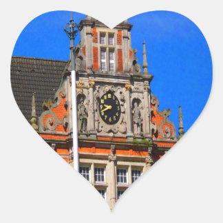 Belleza del ayuntamiento antiguo de Harburg del Pegatina En Forma De Corazón