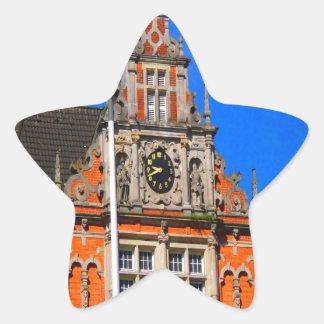 Belleza del ayuntamiento antiguo de Harburg del Pegatina En Forma De Estrella