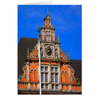 Belleza del ayuntamiento antiguo de Harburg del ti Tarjeta De Felicitación