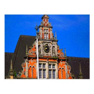 Belleza del ayuntamiento antiguo de Harburg del ti Tarjeta Postal