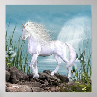 Belleza del blanco del unicornio impresiones