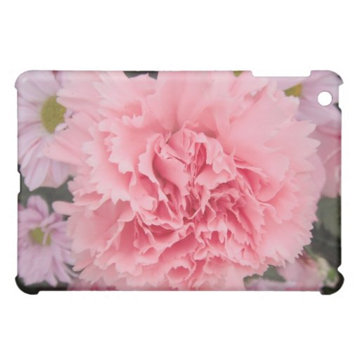 Belleza del clavel del rosa del caso de Ipad