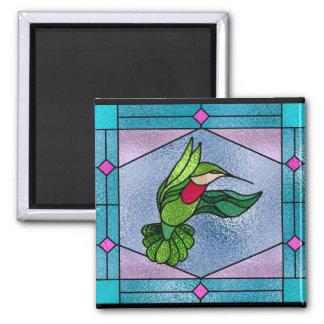 Belleza del colibrí imán cuadrado