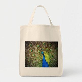 Belleza del color del pavo real bolsa tela para la compra