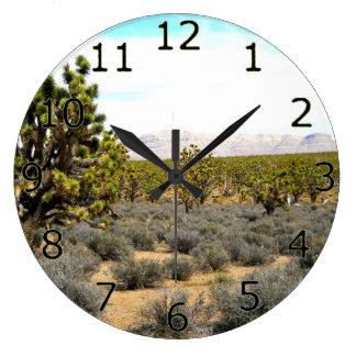 Belleza del desierto reloj redondo grande
