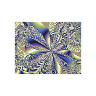Belleza del fractal dentro de la impresión estirad lona envuelta para galerias