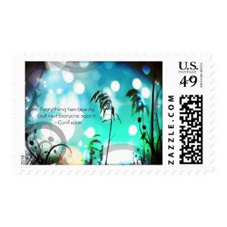 Belleza del franqueo de la hierba de la sello postal