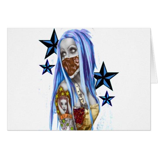 Belleza del gángster tarjeta de felicitación
